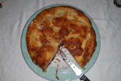 Ton kan geweldig koken en bakken, wat een verrukkelijke taart was dit!