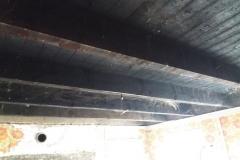 plafond van de keuken zonder schrootjes